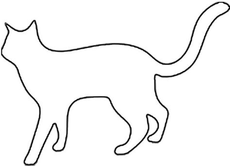 cat silhouette outline cliparts co