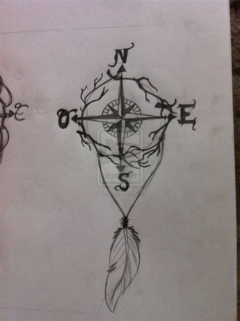 compass tattoo by djeska on deviantart