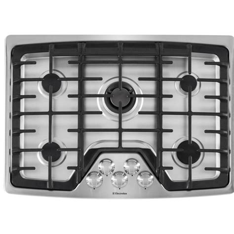 Recessed Gas Cooktop electrolux 30 in recessed gas cooktop in stainless steel silver with 5 burners including
