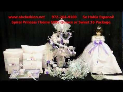 quinceanera centerpieces:spiral princess themed $1195