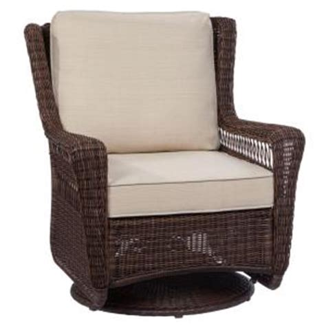 Hton Bay Swivel Patio Chair Cushions by Hton Bay Park Brown Swivel Rocking Wicker