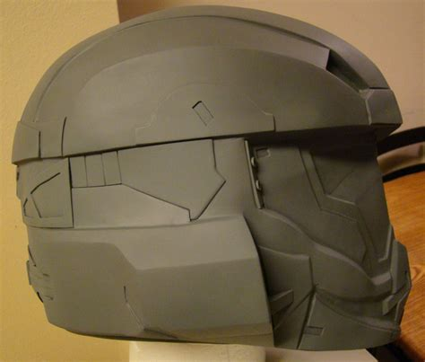 halo 4 lifesize recruit helmet build side view by