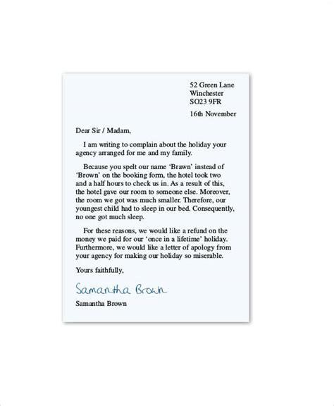 Complaint Letter Hotel complaint letter sle