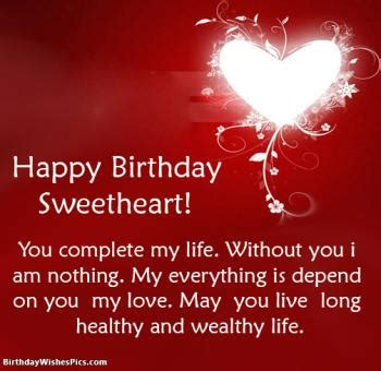 romantic happy birthday wishes  lover  images