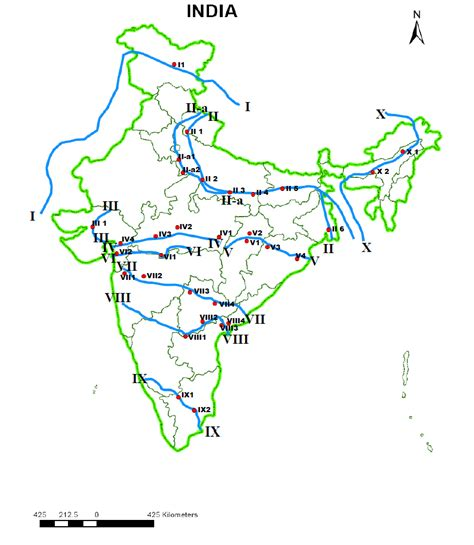 names of rivers indian rivers and settlement quiz