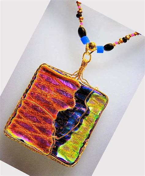 how to make dichroic glass jewelry dichroic glass pendants