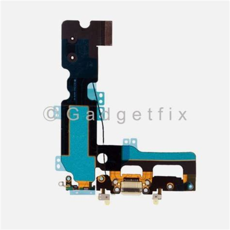 white charging charger port flex cable mic antenna replacement for iphone 7 plus 232282044470