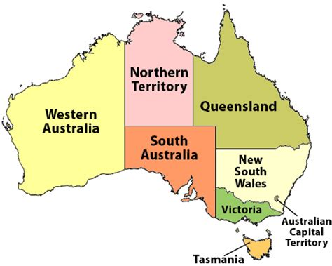 map of australia with states australian business directory oz