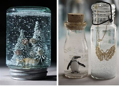 Handmade Snow Globes - a beautiful snow globe that you can make for your ones