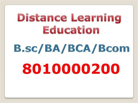 Distance Mba In Faridabad by 8010000200 Distance Learning Bsc Course In India