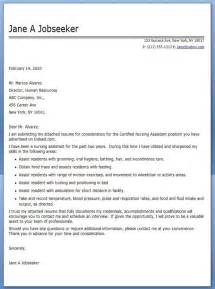 cna cover letter exle career
