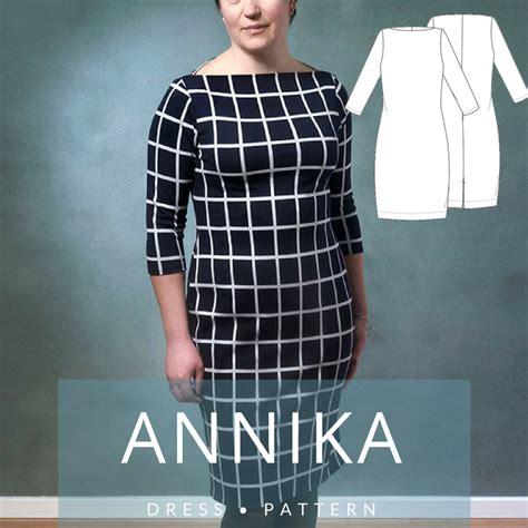 boat neck dress frock 407 annika boat neck dress mariadenmark sewing