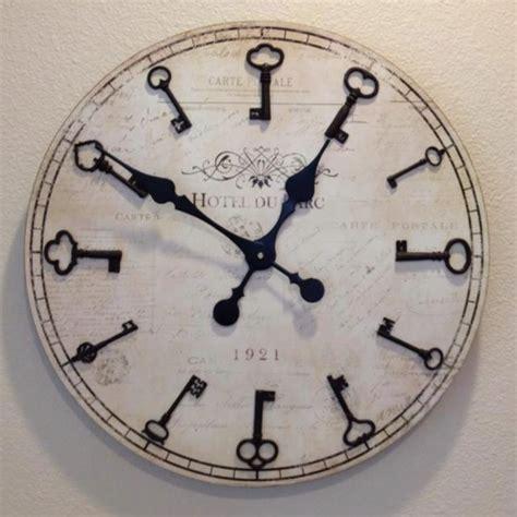 love these cool wall clocks plushemisphere skeleton key clock love crafts clocks pinterest