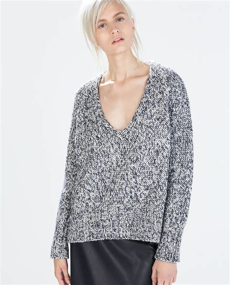 Sweater O Neck Twis Pria 1 zara v neck twist knit sweater the comfiest clothes 50 can buy popsugar fashion