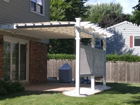 vinyl pergola materials 12 x 16 valencia attached vinyl pergola new arbors