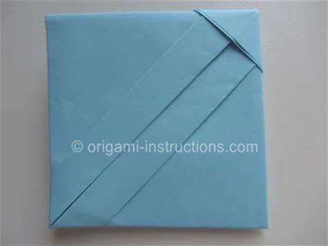 Letter Paper Origami - origami square letter fold