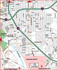 road map of san antonio southeast san antonio