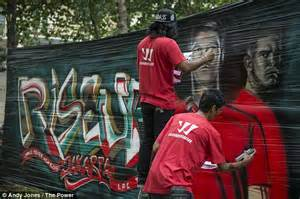 Mural Painting On Wall liverpool street artists produce graffiti mural in