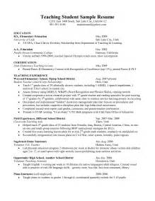 Student Teaching Resume Template by Student Resume Berathen