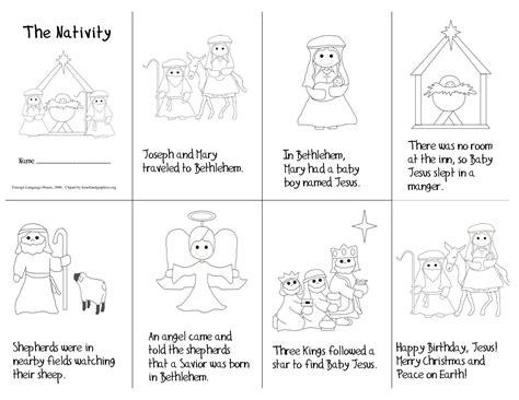 story coloring book nativity printable mini book story