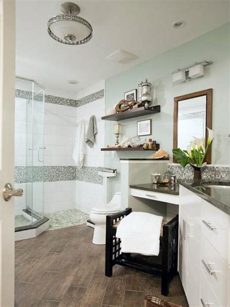 spa inspired bathroom ideas mint green bathroom with gray mosaic tiles designers