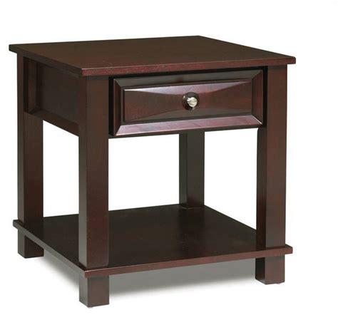 square accent tables steve silver mason 24 inch square end table in dark cherry