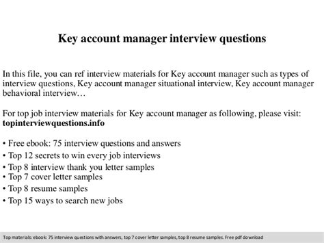 key account manager questions