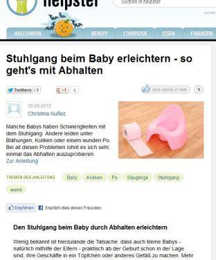 stuhlgang baby stuhlgang 123 windelfrei