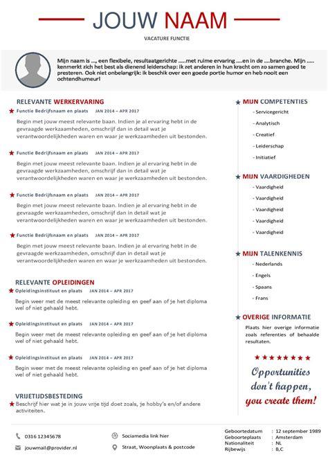 Cv Template Engels Maak Een Professionele Indruk Met Dit Curriculum Vitae En