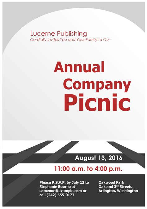 invitation flyer templates free company picnic invitation flyer template