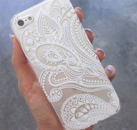 henna design iphone 6 case clear plastic case cover for iphone 6 4 7 henna white by