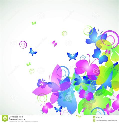 colorful abstract background with butterfly stock vector