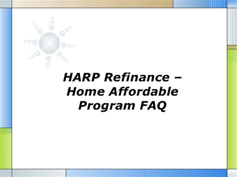 home affordable refinance plan harp harp refinance home affordable program faq