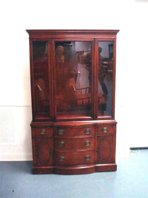 vintage drexel bow front china cabinet grandmother s