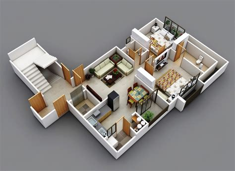 2 Bedroom Apartment Design Layouts Two Bedroom House Apartment Floor Plans Home Design