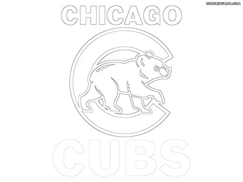 cubs baseball coloring pages coloring pages