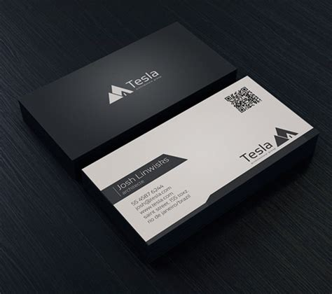 Minimalistic Business Card Template Free by Modern Business Cards Psd Templates Design Graphic
