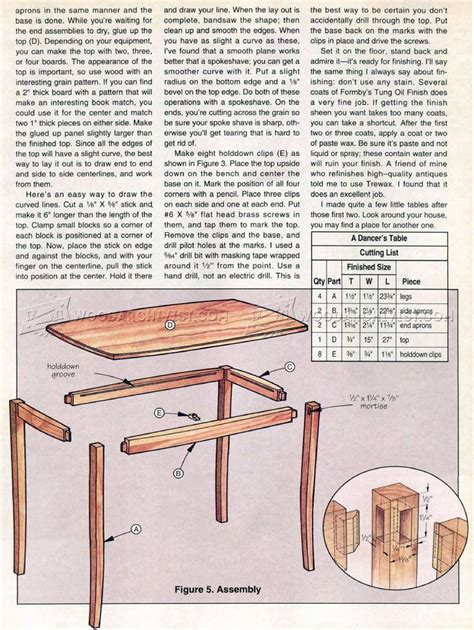 small table plans woodarchivist