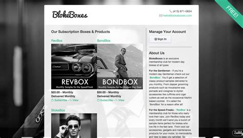 Subscription Website Templates Beautiful Easy To Use Subbly Subscription Website Template