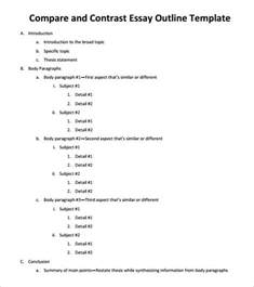 Comparative Essay Outline by Comparative Essay Outline
