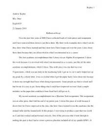 Writing A Reflection Essay by Reflective Essay New