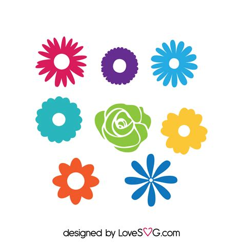 Set Flower flowers set lovesvg