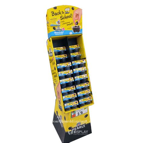 free standing display stands corrugated cardboard food