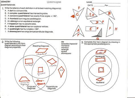 quadrilateral venn diagram worksheet quadrilateral venn diagram worksheet gallery how to