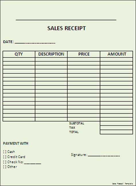 sales receipts templates free receipt template cake ideas and designs