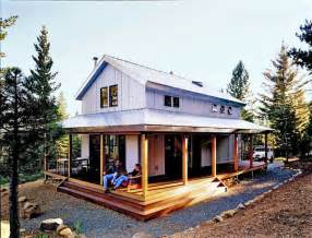Metal Building House Plans With Wrap Around Porches by Cosy Metal Building Cabin W Wrap Around Porch Plans