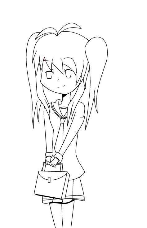 Anime Outline by Outline Coloring Coloring Pages