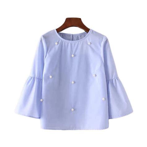 beading shirts new fashion 2017 vintage flare sleeve beading