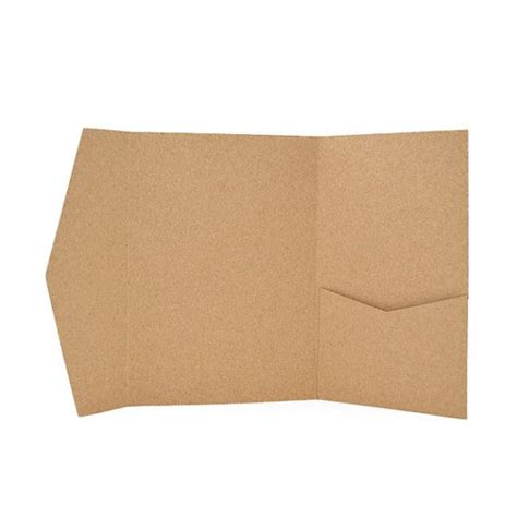 Envelopes With Paper - kraft paper pocketfold invitations with matching envelope