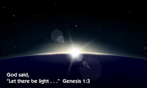 let there be light bible verse what is the light in genesis 1 verses 3 5 neverthirsty